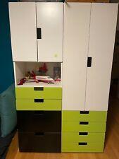 Kinderzimmerschrank, Stuva Ikea. Weiß grün und Kommode, gut erhalten