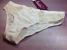 Women Panties,Briefs Bikinis ILUSION M. Beige Shiny Soft W/Floral Fishnet Decora