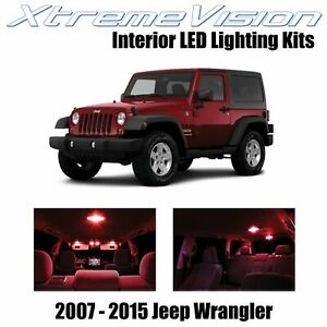 XtremeVision Interior LED for Jeep Wrangler JK 2007-2015 (5 PCS) Red