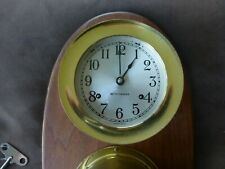 clean, working Seth Thomas corsair ship's clock & barometer set dated 1962 + key