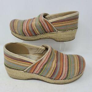 Dankso Vegan Womens Clogs Rainbow Knit Shoes 38 Size 8