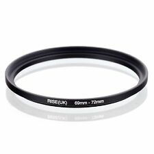 RISE(UK) 69-72MM 69 MM- 72 MM 69 to 72 Matel Step Up Ring Filter Adapter