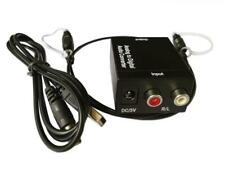 Analog To Digital Audio Converter Adapter SPDIF Coaxial L/R RCA&Optical Toslink