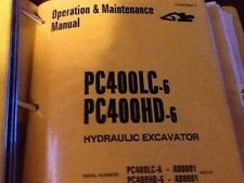 KOMATSU PC400LC-6 PC400HD-6 EXCAVATOR SERVICE SHOP MANUAL OPERATIONS   AND PARTS