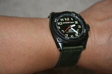 Used MTM Special Ops Mens Black Hawk Watch with extra rubber strap