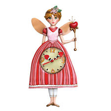 Allen Designs Princess Pixie Pendulum Child's Kids Whimsical Wall Clock
