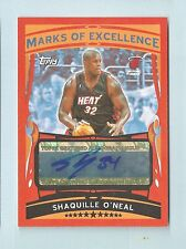 SHAQUILLE O'NEAL 2005/06 TOPPS MARKS OF EXCELLENCE AUTOGRAPH AUTO