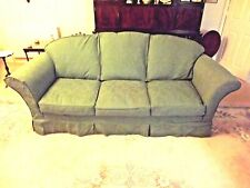 Green LOOSE COVERS for 3 seater settee and cushions.