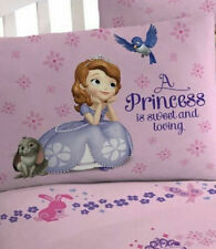 Disney Sofia the First Twin Sheet Set Microfiber Pink Princess Sweet Loving