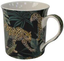 Leonardo Collection Set of 4 China Coffee Mugs Set Jungle Fever Leopards