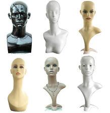 Amazing Mannequin Head Display Head Dummy Shop Window Male Female Black White UK