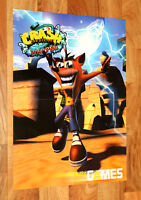 Crash Bandicoot Warped / Tomb Raider III Adventures of Lara Croft Vintage Poster