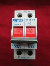 PROTEUS 100S2 IP2X 100 AMP DP MAIN INCOMER SWITCH