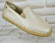 UGG SANDRINNE Espadrille Womens Leather Shoes Casual Ballerina Size 3.5 UK 36 EU