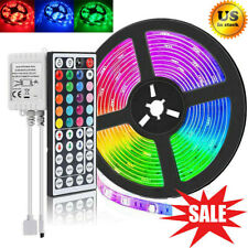 Led Strip Lights 16.4ft Rgb Led Room 5050 Tape Home Party Decor Color Changing