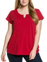 Ulla Popken ladies top t-shirt plus size 20/22 24/26 28/30 32/34 36/38 dark red