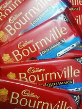 2x BARRES Cadbury Bournville Old Jamaica rhum raisin Chocolat Noir 100 g