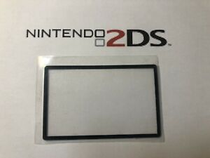 Nintendo 2DS Screen Cover LCD Lens Clear Part New Fit Great ! Black