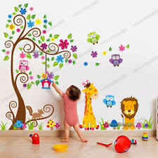 Giant Scroll Flower Animal Tree Owls Wall Stickers Art Decal Paper Nursery Decor