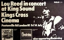Lou Reed 1972 advert Concert London Kings Cross Cinema velvet underground