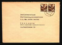 Germany 1948 Wurttemberg Cover / 10Pf Pair - Z14852