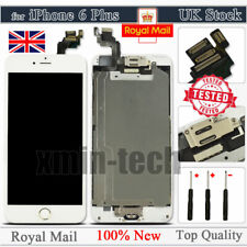 White For iPhone 6 Plus Screen Replacement LCD Touch Digitizer Button Camera UK