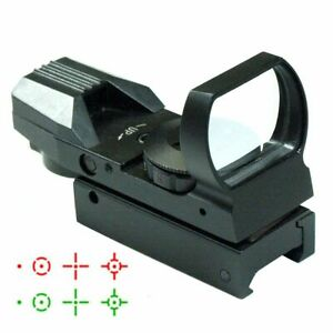 Holographic Rail Red Green Dot Sight Reflex Scope 4 Reticle Rifle 11mm Mount