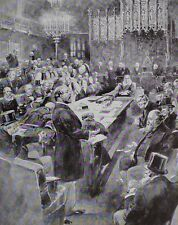 1910 PRINT KING EDWARD VII 1884 PRINCE OF WALES DELIVERING SPEECH HOUSE OF LORDS