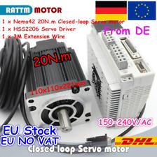 Nema42 20N.m 3-phase Stepper Motor Servo Driver Closed Loop 220V CNC Kit DE SHIP