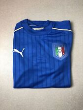 Puma Italy Italia FIGC 2016 Home Soccer Jersey Authentic Men's Large NEW $90