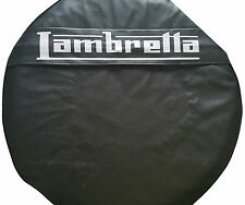 ukscooters LAMBRETTA BLACK POCKET SPARE WHEEL COVER 10 INCH WHEELS GP/LI/TV/SX