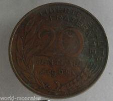 20 centimes marianne 1965 : B : pièce de monnaie française