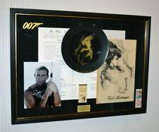 James Bond 007, THUNDERBALL Signed SEAN CONNERY, COA, Cafe MARTINIQUE Plate MENU