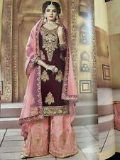 Indian Pakistani Bollywood Designer Salwar Kameez Shalwar Suit Sharara Dress New