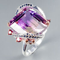 Sale Discount Ring Natural Ametrine 925 Sterling Silver Ring Size 8.5/R125056