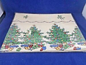 "CHRISTMAS TREE Tablecloth (IVORY) 60 x 84"""