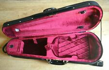 Good quality rigid 3/4 violin case, padded,lined, hygrometer, back straps, key