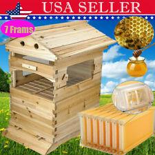 7pcs Flowing Honey Bee Hive Beehive Frames Beekeeping Brood Cedarwood Box Set