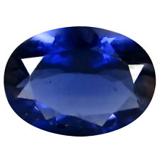 1.00 ct AAA Phenomenal Oval Shape (9 x 7 mm) Blue Iolite Natural Loose Gemstone