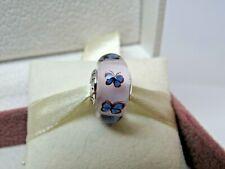 New w/Box Pandora Butterfly Glass Murano Charm # 797893 Spring