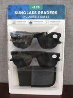 Eyewear LTD. 2 pack Unisex Invisible Seam Bifocal Sunglasses Readers  +1.75 NEW