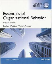 Essentials of Organizational Behavior by Stephen P Robbins, Timothy A Judge 2013