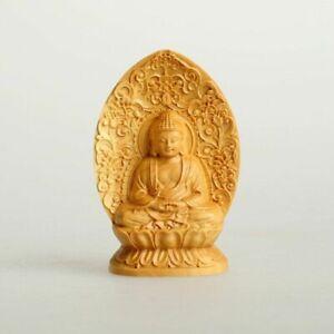 7 Cm Buddha Statues Pray Image Box Wood Carvings Guanyin Ornaments Birth Statue