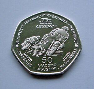 2015 ISLE OF MAN TT LEGENDS 50p COIN *FREE P&P* McGUINNESS DUNLOP HAILWOOD DUKE