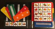 HUGE LOT BOOK 200+ PHOTO FOOD DRINKS PECS COMMUNICATION AUTISM ASPERGER APRAXIA
