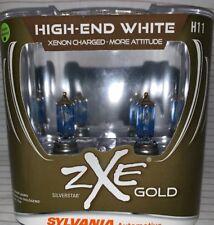 Sylvania Silverstar ZXE GOLD H11 Set Headlight Bulbs Xenon Fueled NEW
