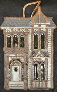 VINTAGE Victoria Littlejohn Ceramics Pottery Clay Wall Plaque  Trivet HOUSE 70's