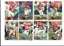 1997 Pacific Silver & Copper Kansas City Chiefs 8 card lot