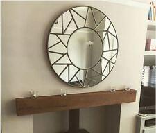 Jigsaw Bevelled Round Mirror-diameter 80cm