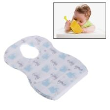 20pcs/lot Sterile Disposable Bibs Baby Children waterproof Eat Bibs With Pocket